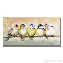 YIJIAHE Fashion Canvas Painting Lucky Bird Pictures Hand Painted On Canvas  Large 1 Piece Wall Pictures For Living Room Bedroom Office H97