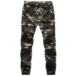 Chinese  Wholesale-2015 New Design Mens White Camo Joggers Man Street Dancing Sweatpants Army Jungle Green Joggers Plus Size M-5XL Trousers manufacturers