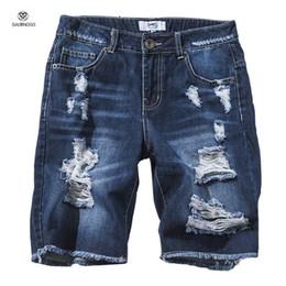 Discount Ripped Denim Shorts For Men   2017 Ripped Denim Shorts ...