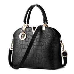 Discounted Leather Shoulder Bags Canada - High-grade Crocodile Grain Female Single Shoulder Bag Europe And The High Quality Leather Fashion Handbags 16 Colors Limited-time Discount
