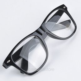 94c7231576 Al por mayor-Moda Estilo de Verano Gafas de color caramelo Unisex Lente  transparente Nerd Geek Gafas Hombres Mujeres Gafas