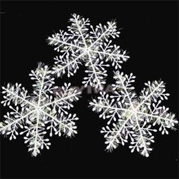 Decor Ornament Australia - 15Pcs (5 bags) White Snowflake Ornaments Christmas Holiday Festival Party Home Decor New Year Gift