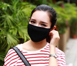 Black cotton face mask online shopping - Anti Dust Cotton Mouth Face Mask Unisex Man Woman Cycling Wearing Black Fashion High quality
