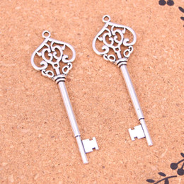 $enCountryForm.capitalKeyWord Australia - 37pcs Antique Silver Plated most key Charms Pendants for European Bracelet Jewelry Making DIY Handmade 69mm