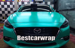 Green truck cars online shopping - Matte Metallic Tiffany Green Vinyl Wrap Car Wap Series Covering With Air bubble Free Luxury Truck Coating size x20m Roll x66ft