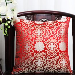 $enCountryForm.capitalKeyWord Canada - Lucky Flower Vintage Pillow Cover Cushion Christmas Decorative Chinese Silk Cushions Car Sofa Chair Square Cushion Back support Pillow