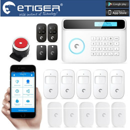online shopping LS111 Android IOS APP eTIGER LCD Wireless Wired GSM PSTN Intruder Burglar For Home Security Alarm System