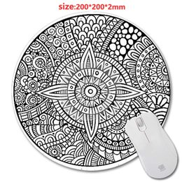 Ordering laptOp online shopping - DIY Black and white texture Round Gaming Mouse Mat Custom Your Styles Non Slip Durable Computer And Laptop X200X2mm Mouse Pad orders