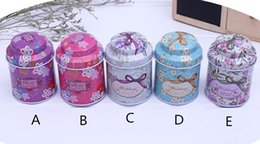 Tea caddies boxes online shopping - Popular Tea caddy receive box candy storage box wedding favor tin box cable organizer container household