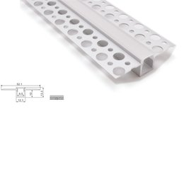 aluminum strip light channels UK - 10 X 1M sets lot New developed aluminium profile for led strips and super Flat t Channel profile for ceiling or wall light