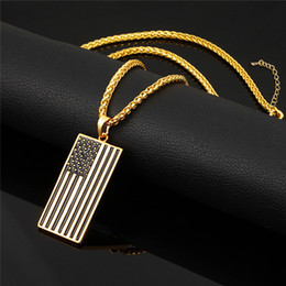 gold chain styles for men Australia - US Flag Necklaces & Pendants Gold Color Stainless Steel USA American Chain For Men Women Gift Hot Fashion Punk Style Jewelry 2017 Wholesale