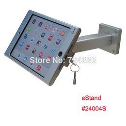 $enCountryForm.capitalKeyWord Canada - Wholesale- wall mount for mini iPad metallic frame stand anti-theft enclosure holder display kiosk brace housing metal case with lock