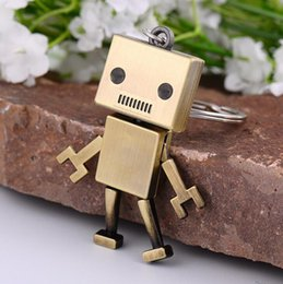 ball robot NZ - Hot sale Creative gifts retro robot model metal keychain car advertising waist hanging key chain KR101 Keychains mix order 20 pieces a lot