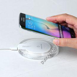 Опт 2017 горячие продажи Беспроводное Зарядное Устройство Ци Беспроводной Зарядки Pad для Samsung Galaxy S8 плюс Note5 и всех устройств с поддержкой Qi для Iphone 7 Plus