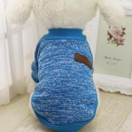 Poodle Clothing Canada - High Quality Winter Dog Knitting Clothes Costume Autumn Warm Soft Sweater For Pet Dog Samoyed Poodles
