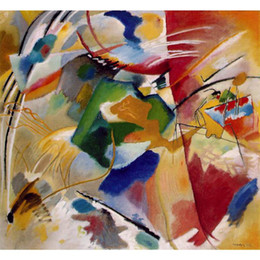 $enCountryForm.capitalKeyWord Canada - High quality Wassily Kandinsky arts Painting with green center hand painted Oil paintings reproduction Large canvas