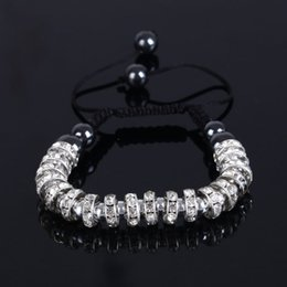 infinity crystals Australia - Wholesale Fashion Vintage Jewelry weave Bracelet Infinity bracelet Wrap Rope crystal Charm Bangle For Men And Women