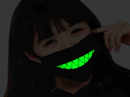 $enCountryForm.capitalKeyWord Canada - Hot sale Black Mouth Mask Light dust Luminous keep warm Cool Unisex Mask Noctilucent Anti Dust