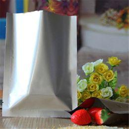 $enCountryForm.capitalKeyWord NZ - 200Pcs Lot Multi Sizes Open Top Silver Pure Aluminum Foil Packing Bag Heat Seal Mylar Vacuum Pouches Food Beef Sack Storage Bag