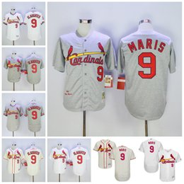 hot sales bbb67 b68a8 st. louis cardinals 9 roger maris 1967 gray wool throwback ...