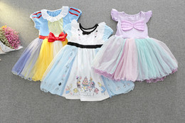 Lolita Cosplay Hot Pas Cher-Hot Cartoon Dress Snow White Princess Party Jupes manches courtes Cosplay Girl Tulle Lace Summer Clothes
