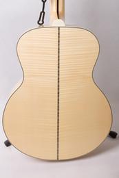 Venta al por mayor de La guitarra de Rhyme, el nuevo panel personalizado, la prenda superior sin forro de la nube, el arce lientang tiger rayas, (43 pulgadas de superficie única personalizada configur