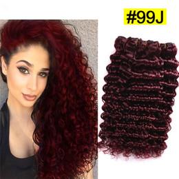 Cheap burgundy curly hair extensions suppliers best cheap brazilian 99j virgin 9a human hair extensions deep wave deep curly red hair bundles 9a cheap burgundy hair bundles 3pcs lot pmusecretfo Gallery