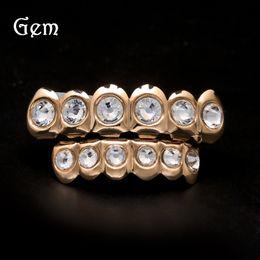 $enCountryForm.capitalKeyWord Canada - Luxury Hip Hop Teeth Jewelry Gems Hiphop Grillz For Men Cool Gold Plated Teeth Brace Halloween Gift Body Jewelry 207 Hot