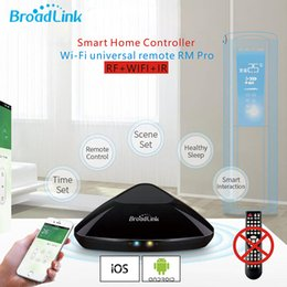 Ios Wifi Controller NZ - Wholesale-Original Broadlink RM2 Rm Pro WIFI Smart home Universal Intelligent controller IR+RF Switch Wireless Remote Work IOS & android