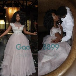 High Couture Dresses Canada - Light pale Pink Prom Dresses 2017 Arabic Jajja-Couture Tulle with white Appliques Vestidos Evening Gown in Dubai