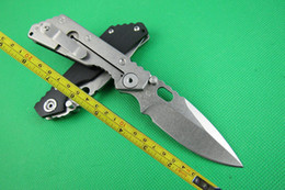 strider knives 2019 - FREE shipping New 8'' CNC Black G-10 Handle Strider SMF SNG Folding Pocket Knife FD02 cheap strider knives