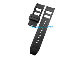 watches for men panerai UK - JAWODER Watchband New Men Women 26mm Black Silicone Rubber Diver Watch Band Strap Bent End for INV 1090 Russian Diver