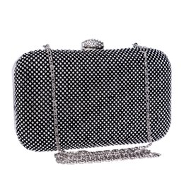 China New arrival women evening bags one side rhinestones small day clutches handbags silver black gold diamonds metal evening bag supplier black gold silver clutch bag suppliers