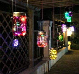 $enCountryForm.capitalKeyWord NZ - Colorful Changing Fairy Light Solar Mason Jar Insert LED Lamp Garden Decor Solar Lights MYY