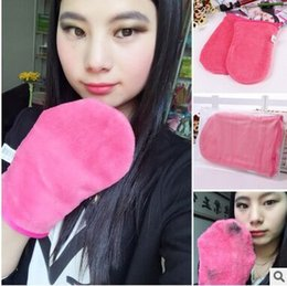 $enCountryForm.capitalKeyWord Canada - wholesale Water discharge makeup gloves superfine fiber material feel soft makeup effect is good easy to carry and wash