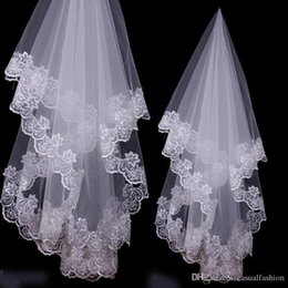 $enCountryForm.capitalKeyWord NZ - Bridal Veils Charming Cheap Girls Wedding Bridal Accessories Veil For Wedding Lace White Ivory Color Hot Sale Charming