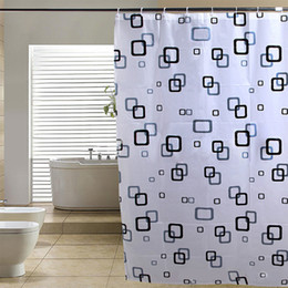 wholesale modern bathroom shower curtains extra long with hooks 180 x 200 cm