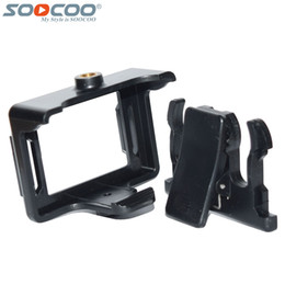 $enCountryForm.capitalKeyWord Canada - Wholesale- Portable Plastic Frame Case+Backpack Clip for SOOCOO C30 C30R 4K Wifi SJCAM SJ4000 SJ4000 Wifi Sport Action Camera DV Accessory