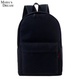 couple school bag 2019 - Wholesale- Mara's Dream Fashion Backpacks for Men and Women Solid Color Preppy Style Softback Couple School Bags Bi