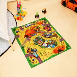 Discount padded baby play mat - Cartoon Baby Play Mat Crawling Mat Portable Folding Floor Pad Game Pad Baby Lovely Play Mats Developing Crawling Carpet