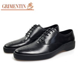 Formal Man Leather Shoes Flat Canada - GRIMENTIN Newest leather shoes oxford men designer high top black vintage carved male wedding shoes formal flats size:38-44 YJ08