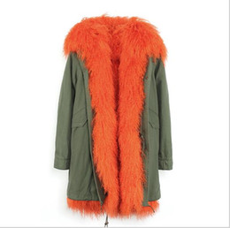 $enCountryForm.capitalKeyWord Canada - hot sale Jazzevar orange Mongolia sheep fur lined army green long parka warm coats with Mongolia sheep fur trim collar canvas jackets