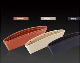 New Quality Leather Seat Car Organizers Side Crack Catcher Storage Box Slit Pocket Black Beige Brown