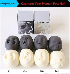 Discount funny face dolls - Wholesale Caomaru Vent doll Human Face Ball Anti-stress Ball of Japanese Design Caomaru brown Adult Kids Funny fidget sp