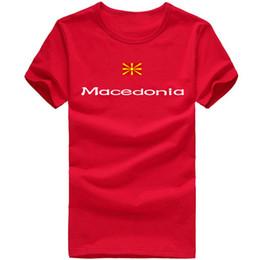 $enCountryForm.capitalKeyWord Canada - Macedonia T shirt Lovely sport short sleeve Training gym tees Nation flag clothing Unisex cotton Tshirt