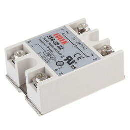 Wholesale New Auto Solid State Relay SSR-50DA 3-32VDC Input 50A 250V Output 24-380VAC with Transparent Lid AUP_209