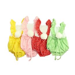 $enCountryForm.capitalKeyWord UK - Polka Dots Baby Clothes Sleeveless Baby Girls Bodysuit Pom Toddler Outfit 1st Birthday Gift Ruffle Baby Girls Clothing Outfit