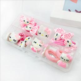7a75cebbb Cute style hello kitty elastic hair bands Children Girl hair clip kids hair  accessories Beautifully Edition 1set 2017