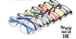 dacc64442a8 (10pcs lot) Fashion plastic kids optical frames children eyeglasses for  prescription many colors accept mixed order 8802