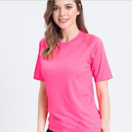 plain color t shirts wholesale Canada - T-shirts Female Solid Color Cotton Basic T shirt Women DIY Fashion Summer Tops Plain Women's Blank T-shirts Printing
